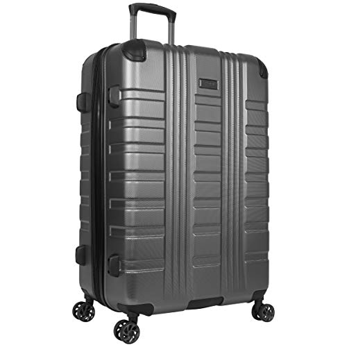Kenneth Cole Reaction Scott's Corner Hardside Expandable 8-Wheel Spinner TSA Lock Travel Suitcase, Charcoal