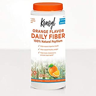 Konsyl Psyllium Fiber Orange Flavor 19oz (pack of 2)