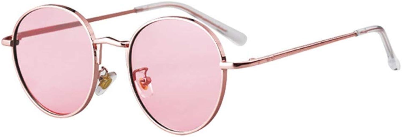 Fuqiuwei Sonnenbrillen Simple And Versatile Retro Pink Sunglasses Female Retro Sunglasses