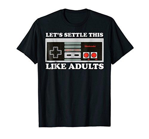 Nintendo NES Controller Let's Settle This Graphic T-Shirt T-Shirt
