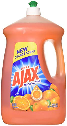 Ajax 4953423133281 90 fl oz Ultra Triple Action Liquid Dish Soap, Orange, 2-Pack