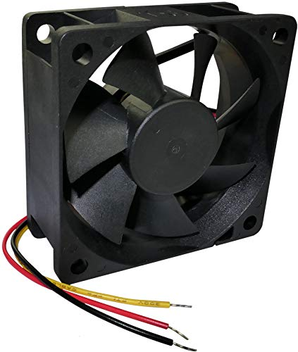 AERZETIX - Ventilador Axial de Refrigeración - para Caja de Ordenador PC - Vapo - Termoplástico - 24V DC - 60x60x25mm – 45.63m3/h - 5200rpm - 0.08A - 1.92W - 27dBA - 3 Cables - C46979