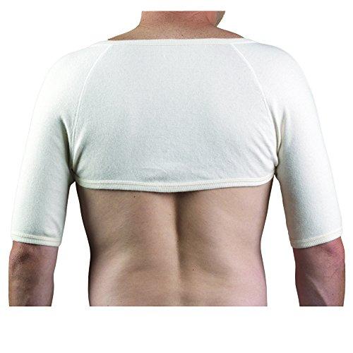 OTC Shoulder Warmer Angora Arthritis Relief, White, Medium