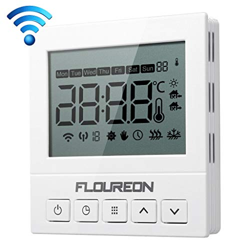 WiFi Thermostat 3A Raumthermostat digital Thermostat programmierbar Raumtemperaturregler für Fussbodenheizung Wasser Heizung Wandheizung Wandthermostat mit großer LCD-Bildschirm 230V