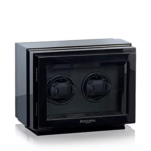 HEISSE & SÖHNE SEIT 1976® Uhrenbeweger Watch Master 2 Carbon mit Sichtfenster für 2 Automatikuhren