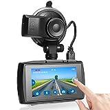 Z-Edge GPS Dashcam Autokamera Full HD 1080P 3,0 Zoll Touchscreen Ambarella A12 Prozessor, Loop-Aufnahme, HDR, G-Sensor, Bewegungserkennung, Parküberwachung, inkl. Kfz Ladegerät
