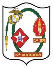 ION Graphics 1st Battalion 6th Marine Regiment USMC V2 Sticker Die Cut Vinyl Marines Corp 5
