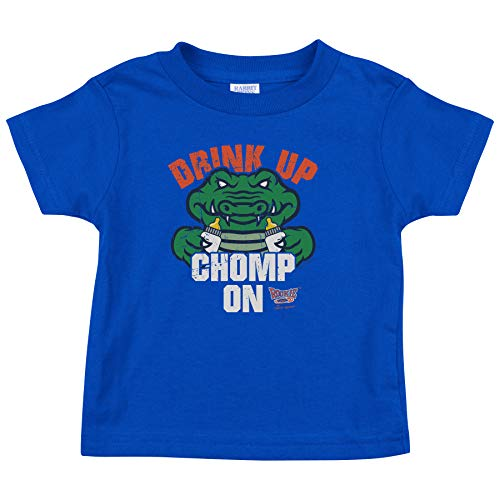 Rookie Wear by Smack Apparel Florida Football Fans. Drink Up Chomp On. Blue Toddler Tee (2T-4T) (2T)