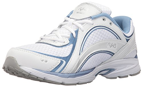 RYKA SKY WALK Walking Shoe, White/Blue, 7.5 M US