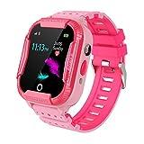 Reloj Inteligente para Niños, Smartwatch Telefono IP67 Impermeable con WIFI+AGPS Rastreador Conversación Bidireccional Llamada por Voz Chat SOS Cámara Despertador Juego para Niños Niña 4-12 Años, Rose