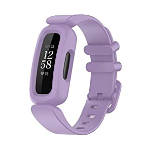 BabyValley Compatible with Fitbit Ace 3 Soft Silicone Wristband for Kids, Waterproof Fitness Sport Strap for Ace 3 Tracker (3colorB)