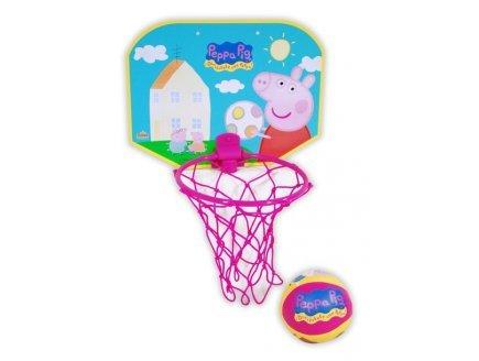 Gen 13 Set Mini Basket Peppa Pig + Balle (Panneau 30x23 cm - Ballon Ø10 cm)