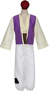 $28 » Alician The Magic Lamp Aladdin Costume Men Adult Hat Top Vest Pants Prince Clothing Set Suit Cosplay Holloween Party Aladdin suit [brown] XL Halloween Decoration