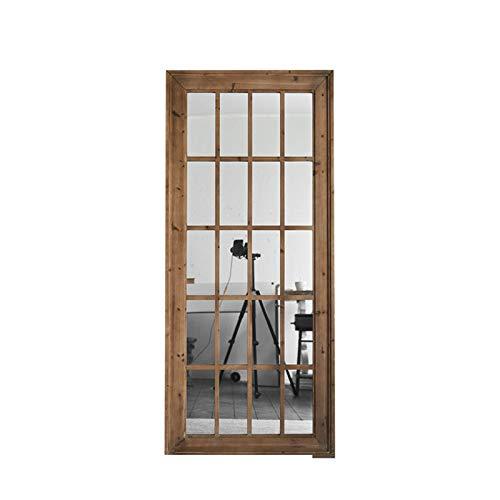 Decoración del hogar Espejos Espejo De Cuerpo Entero Grande, Espejo Decorativo De La Galería De Arte De La Oficina Del Diseño De Madera Del Espejo Del Piso De La Simplicidad Espejos de baño