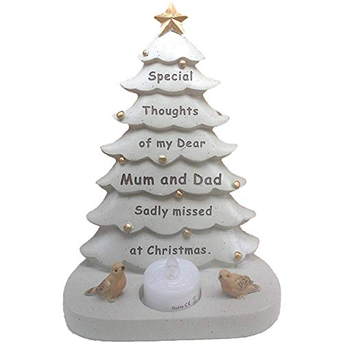 david fishchoff Christmas Tree Grave Memorial Ornament For Mum & Dad T Light
