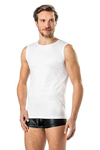 Látex de similares Camiseta para hombre 0/0brazo de vinilo–Tank Top de blanco...