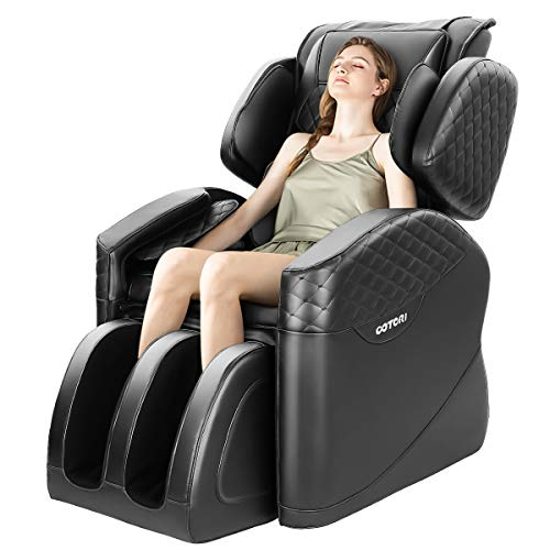 OOTORI 2020 Massage Chair,Full Body Zero Gravity Air Shaitsu Recliner with Lower-Back and Calve Heating and Foot Roller and Seat Vibration,Black