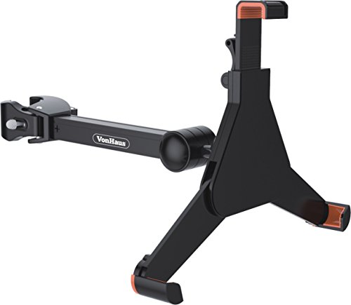 VonHaus Tablet Mount Clamp Bracket for Music/Microphone Stand Universal Suitable for 8.9' - 10.4' tablet or iPad