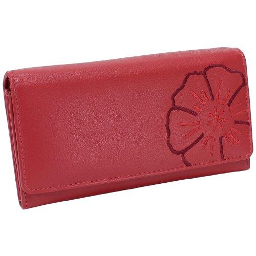 Branco Damen Leder Geldbörse Rot