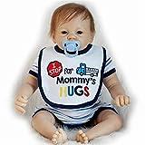 SERBHN Juguetes Juegos Muñecas, Muñeca Simulación Reborn Baby Baby 55Cm Original Reborn Baby Doll Baby Doll Baby Baby Dress Set Lovely Smile Face Muñeca Ponderada-Default