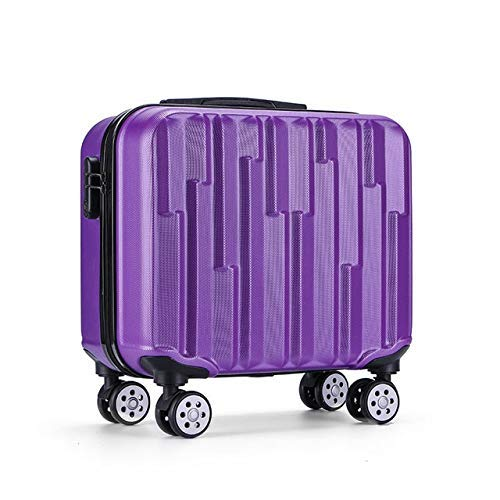 SGSG Trolley Luggage Box Business suitcase 18 inch abs board computer box travel carry ons bag