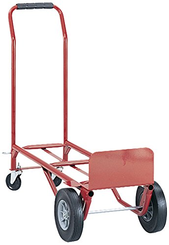 Safco Products Convertible Heavy-Duty Utility Hand Truck, Red