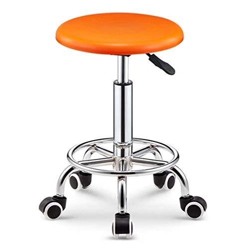 LINGZHIGAN Fauteuil élévateur de bar simple Tabouret haut rotatif Fauteuil de table pivotant Accueil Mode Tabouret de bar Chaise de bar (Couleur : Orange)