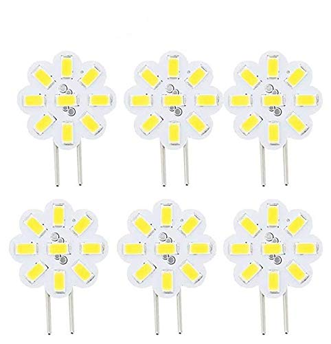 Best to Buy (6-Pack) Dimmable 2.4Watt T4 G4 DISC Puck LED 9SMD 5730LED, White,5000K, (Jc10 Bi-pin 14-17W Replacement) for RV Campers, Trailers, Boats, and Under-Cabinet Light