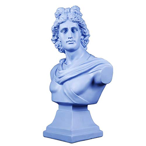 sknonr Einfache Abbildung Statue Dekoration, Desktop-Handwerk, Harz Skulptur, Warming Geschenk, 33x18x54cm (Color : Blue)