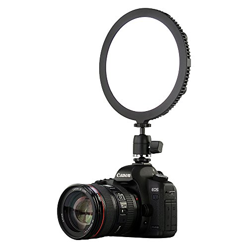 Fotodiox Pro FlapJack Studio (C-700RSV) Bicolor LED Studio Edge Light - 18-Inch Round Ultra-Thin Professional Dual Color LED, Dimmable Photo/Video Light Kit with Case