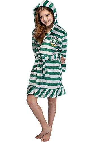 Las niñas de Harry Potter Slytherin volante rayas túnica de lana de felpa (10/12)