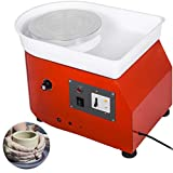 Mophorn Pottery Wheel 25cm Pottery Forming Machine with ABS Basin Electric Pottery Wheel 280W 110V for Ceramic Work Clay Art Craft