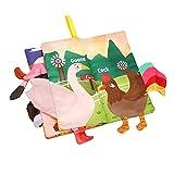 Classicbuy Libro De Tela para Bebé Libros Blandos para Bebé Seguros No Tóxicos Libros De Tela De Aprendizaje Temprano Regalo De La Ducha del Bebé para Niños Pequeños