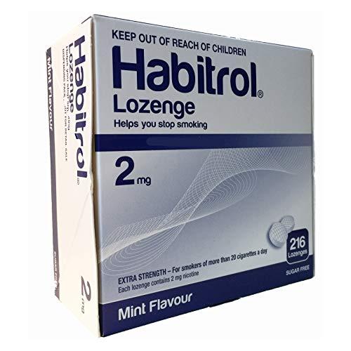 Habitrol Nicotine Lozenge 2mg Mint Flavor. 2 Packs of 216 Lozenges (Total 432)