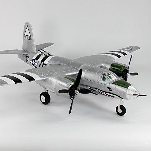 DYNAM RC Airplane B-26 Marauder Silver 1500mm Wingspan - w/o Tx/Rx/Battery