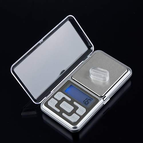 NAttnJf Portable Digital Jewellery Scales 500 g / 0.1 g Mini Digital LCD Electronic Pocket Jewellery Gram Weight Scale multi-coloured
