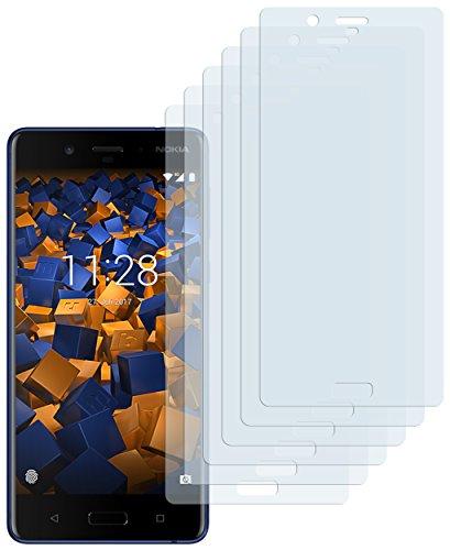 mumbi Schutzfolie kompatibel mit Nokia 8 Folie klar, Bildschirmschutzfolie (6X)