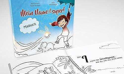 10 personalisierte Malbücher für Kinder - Geschenk für Schüler - Geschenk für das Ende eines erfolgreichen Schuljahrs
