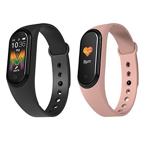 Smartwatch Reloj Inteligente Intimate 2 Pack, Deportes Inteligente Pulsera IP68 SmartWatches Impermeables para Android iOS, Android, Alarma de sueño, Ritmo cardíaco, Hombres y Mujeres
