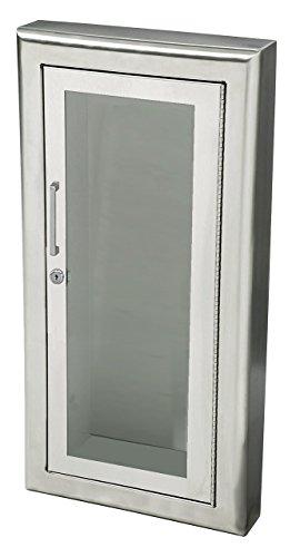 Jl Industries Fire Extinguisher Cabinet Aluminum, Semi-Rec, 3