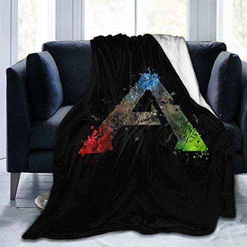 softan Flanell Fleece Decke Plüsch Überwurf Ark Survival Evolved Throw Blanket Warm Cozy Blanket for Kids Boys Girls Adults 3D Fashion Print Blanket Perfect for Couch, Sofa, Bed, All Season 80