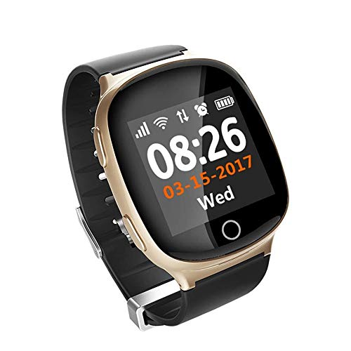 Smart Armband, GPS Smart Horloge Ouderen Smart Safe Positioning Watches Call SOS Stappenteller Waterproof Best Gift Voor Ouderen