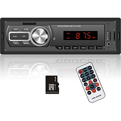 Hodozzy Single Din Car Stereo Receiver,1 Din Bluetooth Car Audio/Hands-Free Calling, Car Radio Mp3...