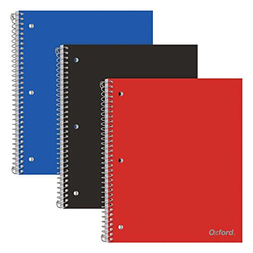 Oxford 1-Subject Poly Notebook, Pack of 3