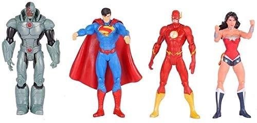HTDZDX DC Juguetes Set - 6 Pulgadas de Spider-Man/Green Lantern/Batman/Cyborg/La Figura de acción de la Bruja Escarlata Flash / / Aquaman articulación móvil Juguetes de los niños Juguetes del