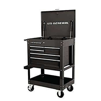 30 in 5 Drawer Mechanic s Tool Cart Cabinet - Black