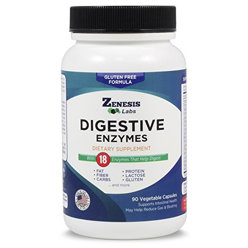Digestive Enzymes - Amylase, Bromelain, Protease, Lipase & 14 Other Enzymes - 90 Capsules