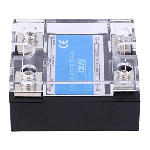 Guadang Solid State Relay,Control 0-10VDC Load 0-250VAC Single Phase DC-AC Solid State Relay, with High- Optocoupler,Computer Peripheral Interface Equipment,Berm,(120VD)