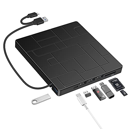 Grabadora DVD CD Externa USB 3.0, BEVA...
