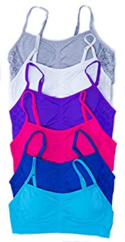 GB-6P-37003-XL Just Love Girls Bras / Tagless & Seamless Sports Bra for Kids  Pack of 6  6 Pack - Group 1 X-Large / 38A